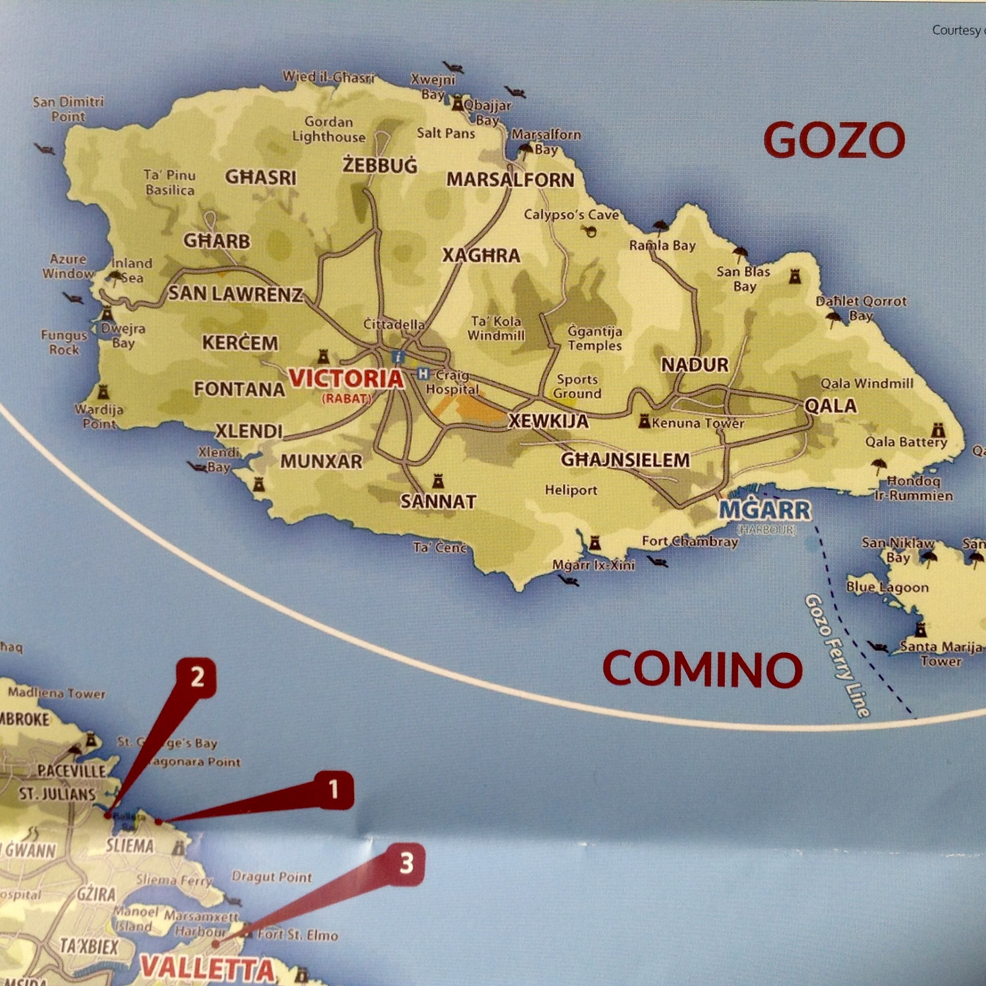 Map of Gozo